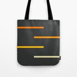 Abstract Minimal Retro Stripes Ashtanga Tote Bag