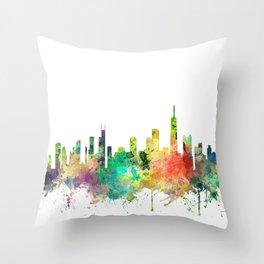 Chicago, Illinois Skyline SP Throw Pillow