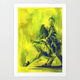 Swing Dancing! Art Print