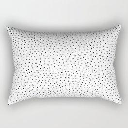 Dotted White & Black Rectangular Pillow
