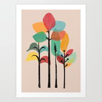 tropical Art Prints featuring Tropical Groove by Picomodi