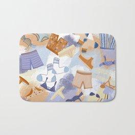 Laundry Day illustrated underwear print skivvies Bath Mat
