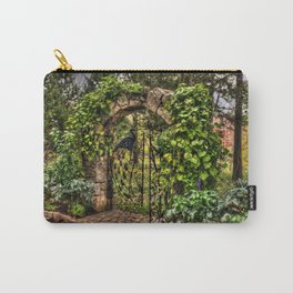 Peacock Garden Gate Carry-All Pouch