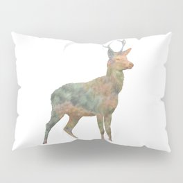 Young Stag double exposure Pillow Sham