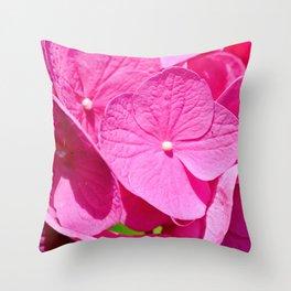 Hydrangea Bold Throw Pillow