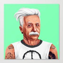 Hipstory -  Albert Einstein Canvas Print