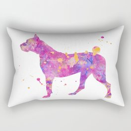 Dogo Argentino Dog Watercolor Painting Rectangular Pillow