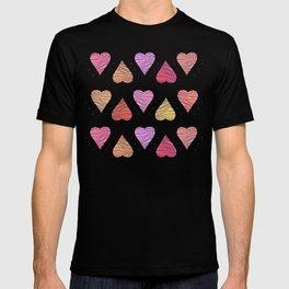 Hearts, love T-shirt
