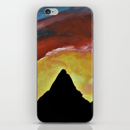 Everest Silhouette - Abstract Sky Oil Painting iPhone Skin