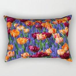 Flowerbed Medley Rectangular Pillow