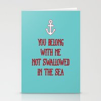 coldplay Stationery Cards featuring You Belong With Me by larlener