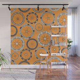 bike wheels amber Wall Mural