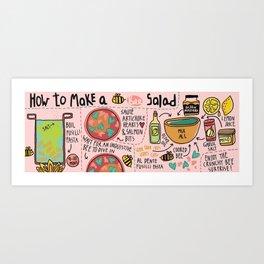 Bee Salad Art Print