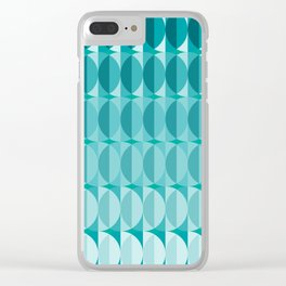 pattern leaves in the moonlight Clear iPhone Case