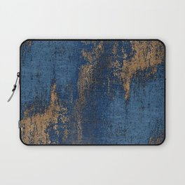 NAVY BLUE AND GOLD PATTERN Laptop Sleeve