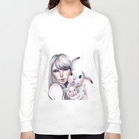 cuddle Long Sleeve T-shirts featuring Cuddle! by Koanne Ko