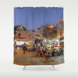Istanbul At Night Shower Curtain