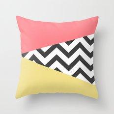 Color Blocked Chevron 2 Throw Pillow