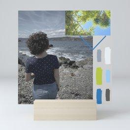 Lifes Color Strips Mini Art Print