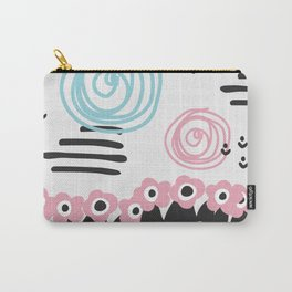 Scandinavian style flowers field Carry-All Pouch