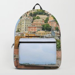 Italy Genova Roof Houses Cities Building Backpack