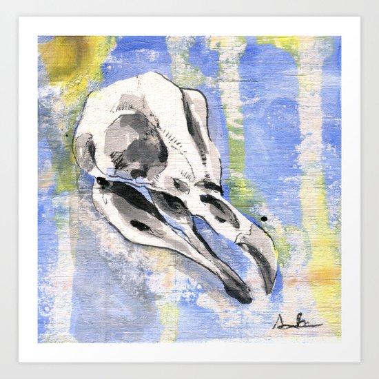 Penguin Skull Art Print