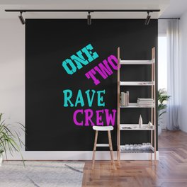 One two rave crew rave logo Wall Mural