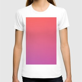 SPECIAL MOMENT - Minimal Plain Soft Mood Color Blend Prints T-shirt