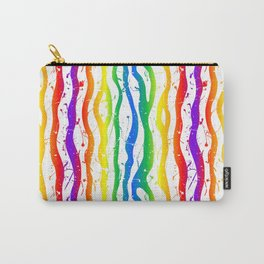 rainbow painted zebra stripes Carry-All Pouch