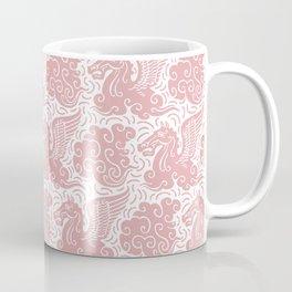 Pegasus Pattern Dusty Rose Coffee Mug