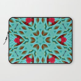 Aqua Art Dec Kaleidoscope Laptop Sleeve