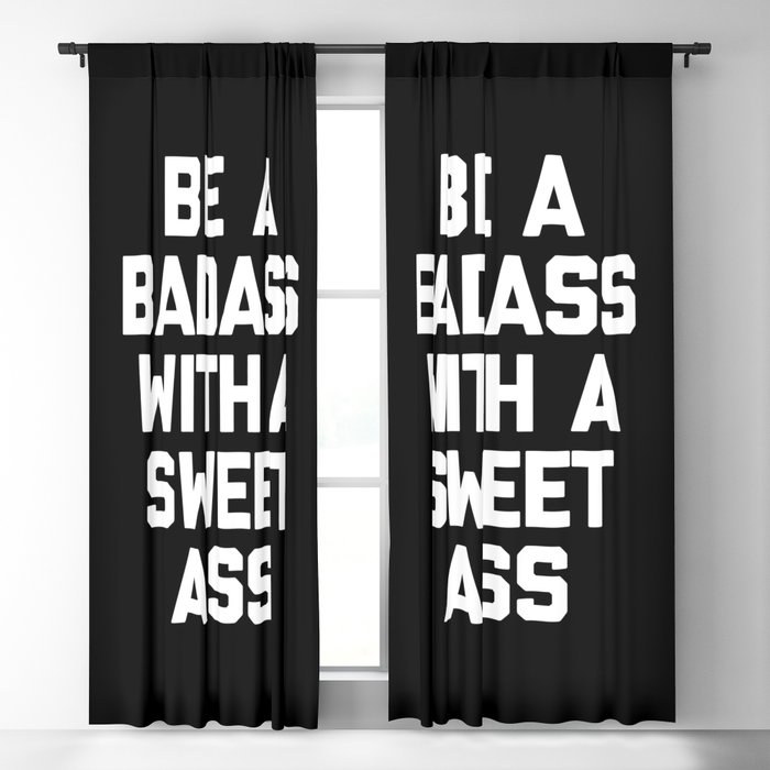 Be A Badass Gym Quote Blackout Curtain by envyart