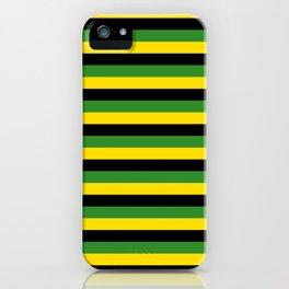 Jamaica flag stripes iPhone Case