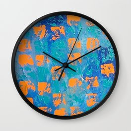 Abstract - True Blue Wall Clock