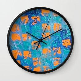 Abstract - True Blue Wall Clock