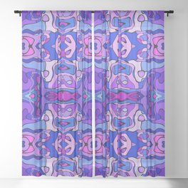 Stained Glass Abstract Sheer Curtain