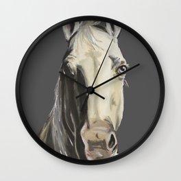 Horse Art, Grey Horse Art, Farm Animal Art Wall Clock