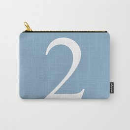 number two sign on placid blue color background Carry-All Pouch