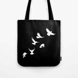 Crows (White) Tote Bag