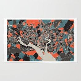 Southampton Multicoloured Print Rug