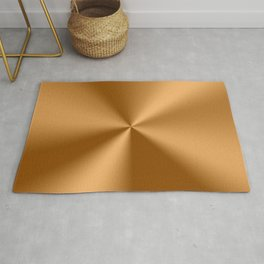 Copper Tones Stainless Steel Print Rug