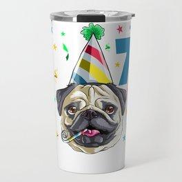 Birthday Boy Pug 7 Travel Mug