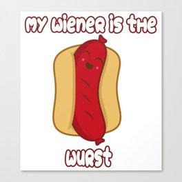 Wurst Wiener Canvas Print