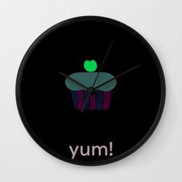 yum! cupcake Wall Clock