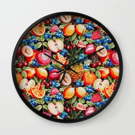 Watercolour Fruit - Bright Wall Clock