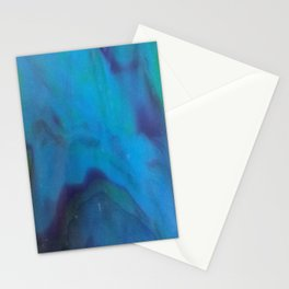 Blue and Green Marbled Glass Stationery Cards
