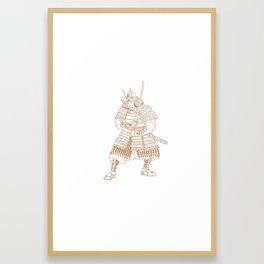 Bushi Samurai Warrior Drawing Framed Art Print