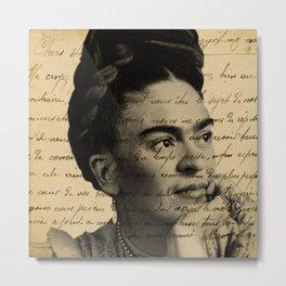 Letter Frida Kahlo Metal Print