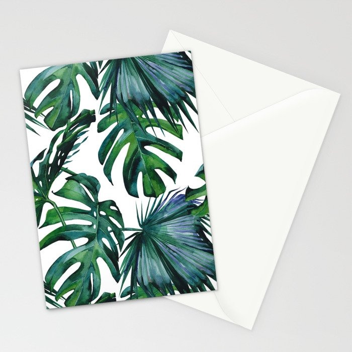 Tropical Palm Leaves Classic Stationery Cards