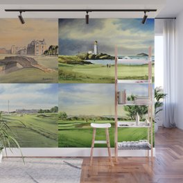 Famous Golf Courses Of Scotland - St Andrews Turnberry Carnoustie Royal Troon Wall Mural